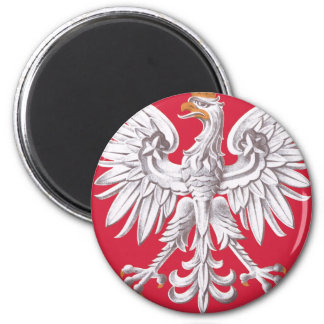 Poland coat of arms 2 inch round magnet