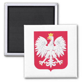 Poland Coat of Arms 2 Inch Square Magnet