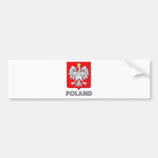 Poland Coat of Arms Car Bumper Sticker