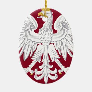 Poland Coat of Arms Ceramic Ornament