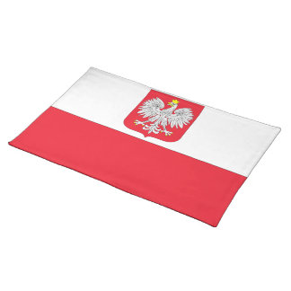 Poland Coat of Arms Flag Cloth Placemat