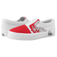 Poland Coat of Arms Flag -.png Printed Shoes