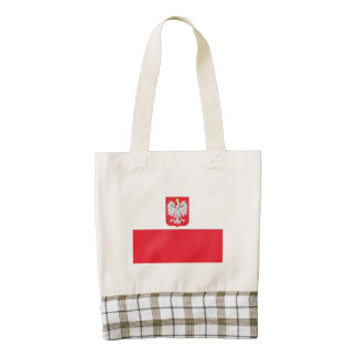 Poland Coat of Arms Flag Zazzle HEART Tote Bag