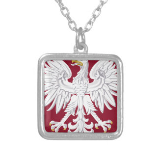 Poland Coat of Arms Silver Plated Necklace