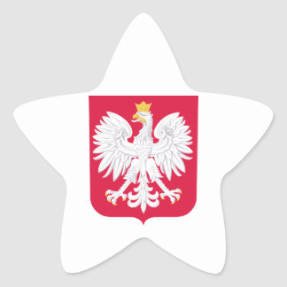 Poland Coat Of Arms Star Sticker
