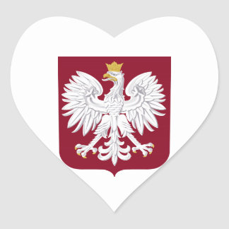 Poland Coat of Arms Heart Sticker