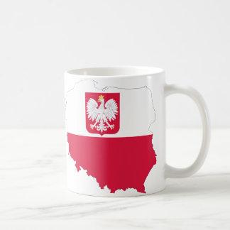 Poland crest map mug