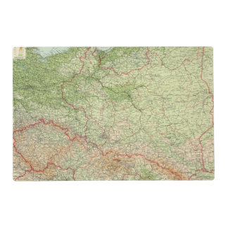 Poland & CzechoSlovakia Laminated Placemat