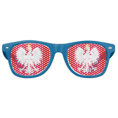 Poland* Eagle Party Shades Glasses at Zazzle