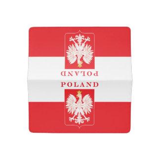 Poland Eagle Red Shield Checkbook Cover