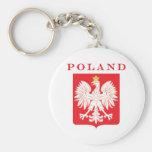 Poland Eagle Red Shield Basic Round Button Keychain
