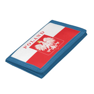 Poland Eagle Red Shield Trifold Wallet