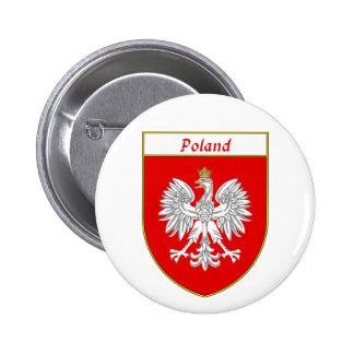 Poland Eagle Shield Button