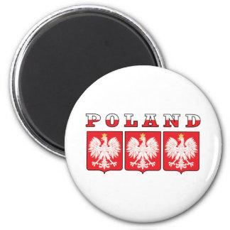 Poland Eagle Shields 2 Inch Round Magnet
