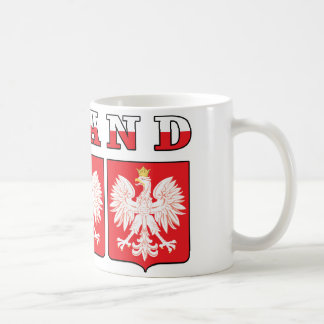 Poland Eagle Shields Coffee Mug