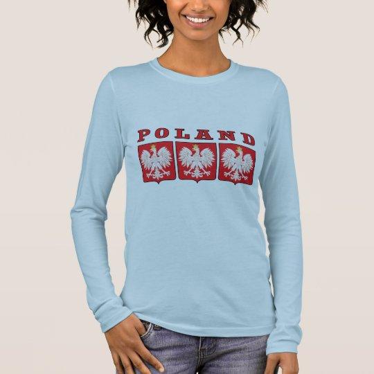 Poland Eagle Shields Long Sleeve T-Shirt