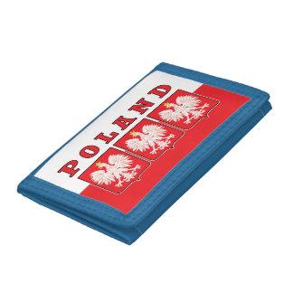 Poland Eagle Shields Trifold Wallet