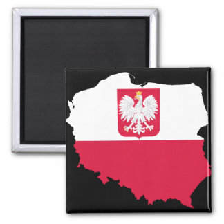 Poland Emblem Map Magnet
