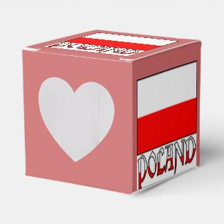 Poland Flag and Word Favor Box