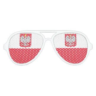 Poland Flag Aviator Sunglasses
