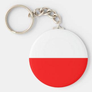Poland flag basic round button keychain