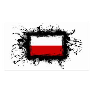 Poland Flag Business Card