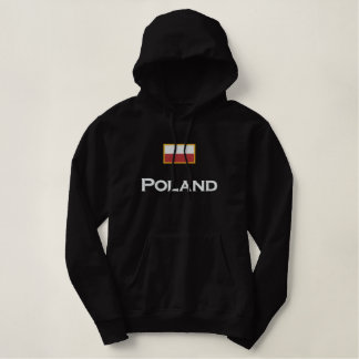 Poland Flag Embroidered Hoodie