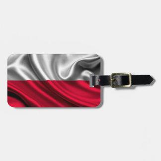 Poland Flag Fabric Bag Tag