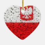 Poland Flag glitter ornament