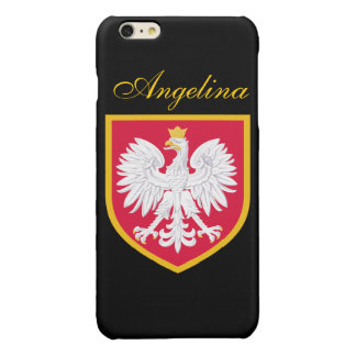 Poland Flag Glossy iPhone 6 Plus Case