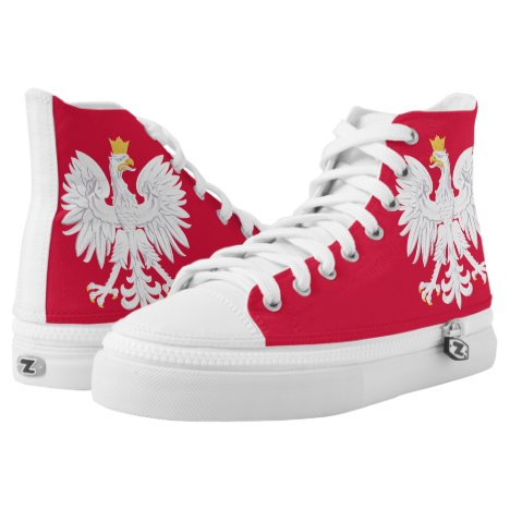 Poland Flag High-Top Sneakers