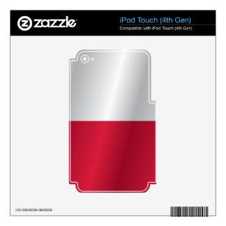 Poland flag iPod touch 4G skins