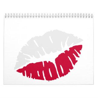 Poland flag kiss wall calendar