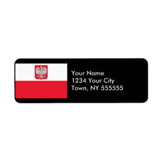 Poland Flag Label