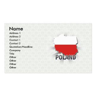 Poland Flag Map 2.0 Business Card