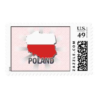 Poland Flag Map 2.0 Postage Stamp