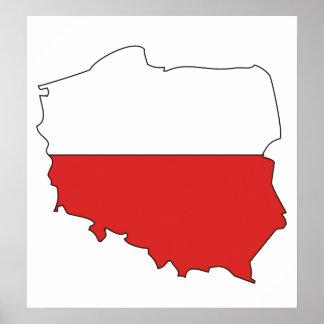 Poland Flag Map full size Poster