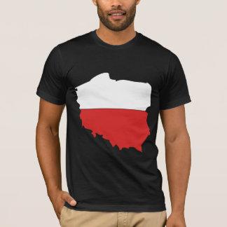 Poland Flag Map full size T-Shirt