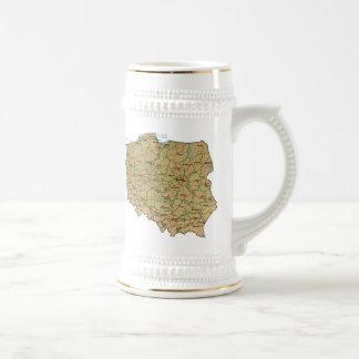 Poland Flag ~ Map Mug