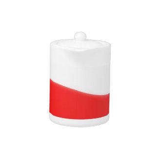 Poland Flag Map Teapot
