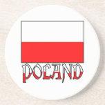 Poland Flag & Name Drink Coaster