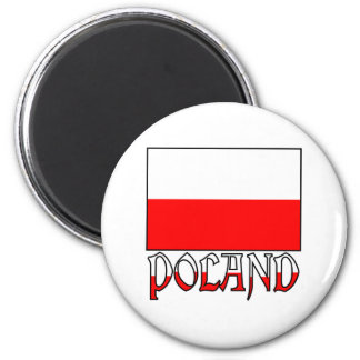 Poland Flag & Name Magnet