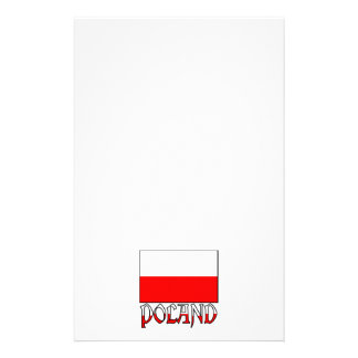 Poland Flag & Name Stationery Paper