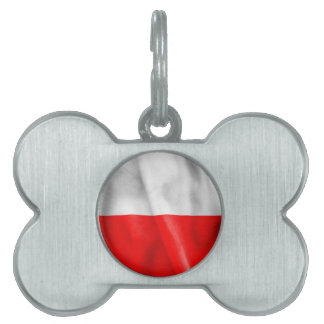 Poland Flag Pet Name Tag