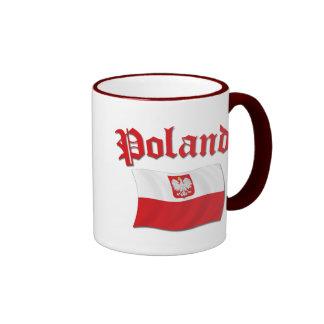 Poland Flag Ringer Mug