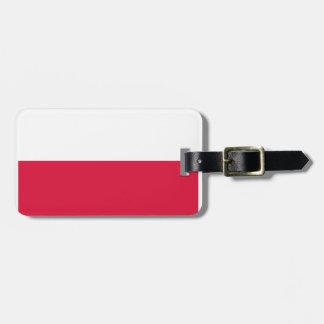 Poland Flag Tag For Luggage