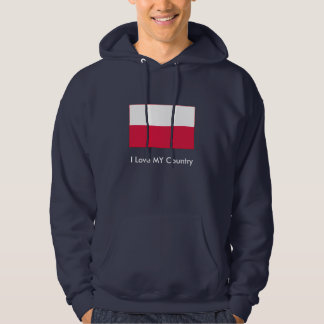 Poland Flag The MUSEUM Zazzle I Love MY Country Hooded Pullovers
