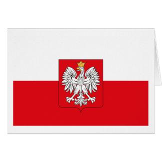 Poland Flag w COA Greeting Card