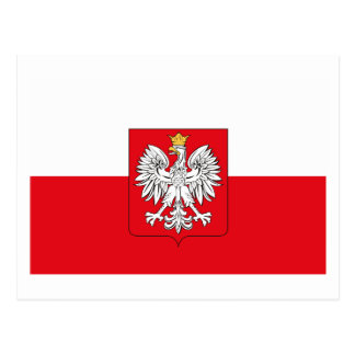 Poland Flag w COA Postcard