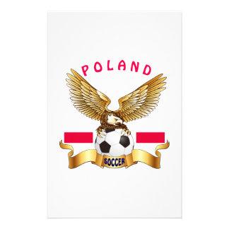 Poland Football Designs Customized Stationery